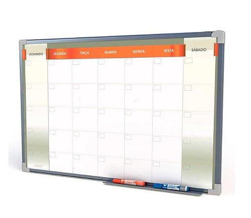 Quadro Branco Planejamento Mensal 100x70cm Linha Neo