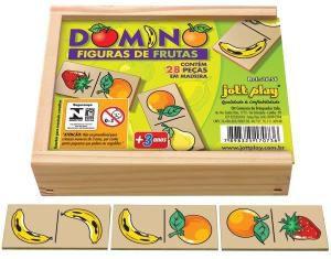 Dominó Figuras de Frutas (28 peças) - Jott Play