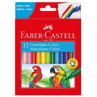 Caneta hidrográfica 12 cores - Faber-Castell