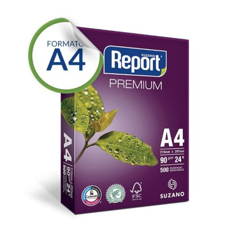 Papel A4 Report® Premium 90 g/m² Pacote 500 Folhas