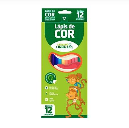 Lápis de Cor 12 cores Eco Leo & Leo