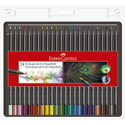 Lápis de Cor 24 cores SuperSoft - Faber-Castell