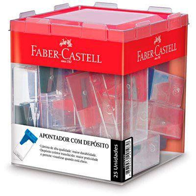 Apontador com Depósito Linha VM 125LVZ Unidade - Faber-Castell