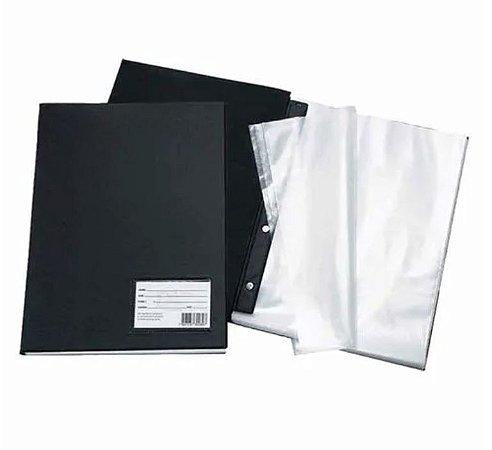 Pasta Catálogo Com 50 Plasticos Finos 1090 Preta Dac Unidade