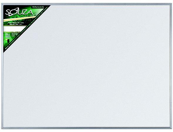 Quadro Branco Moldura Aluminio 100X80cm Popular - Souza