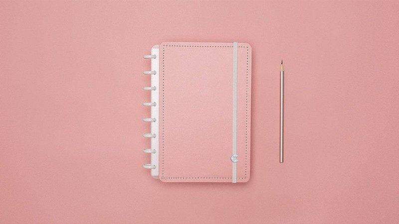 Caderno Inteligente Rosé Pastel