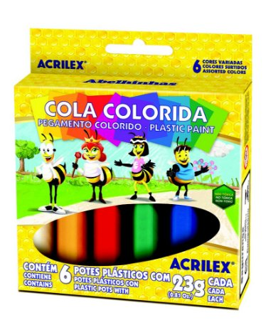 Cola Colorida 23g c/6 Cores Acrilex