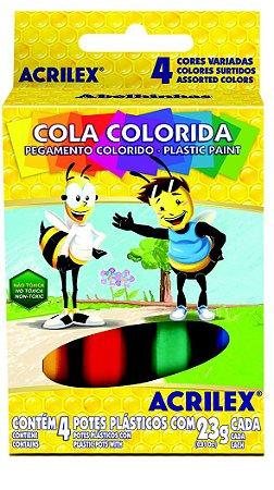 Cola Colorida 23g c/4 Cores Acrilex