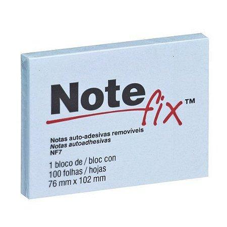 Bloco Adesivo Notefix™ Azul 76 mm x 102 mm - 100 folhas