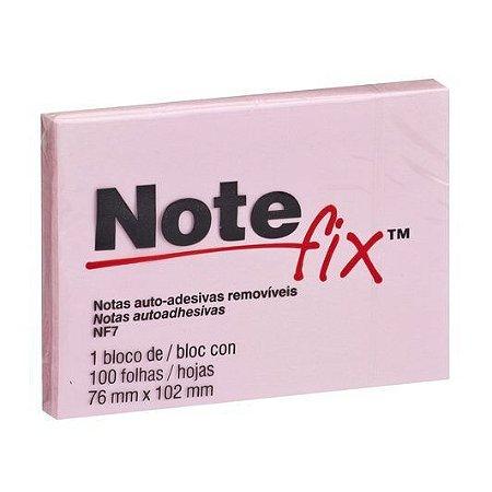 Bloco Adesivo Notefix™ Rosa 76 mm x 102 mm - 100 folhas