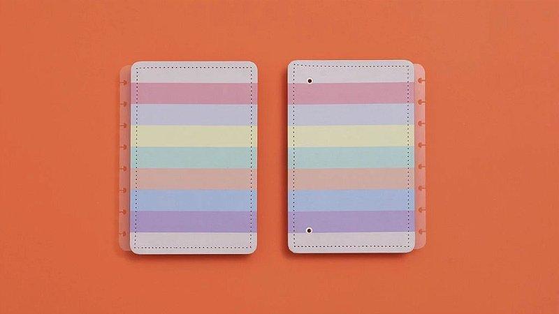 Capa Caderno Inteligente Arco-Iris Pastel