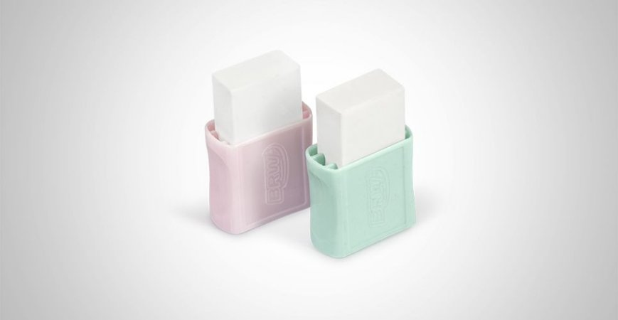 Borracha Plástica Pequena Pastel BRW - Unidade