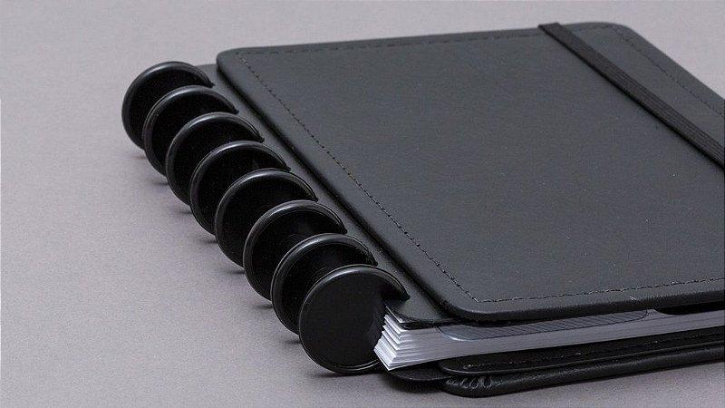 Discos e Elástico Preto Caderno Inteligente