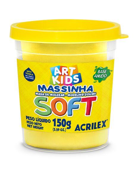 Massa de Modelar Soft 150g Amarelo Limão