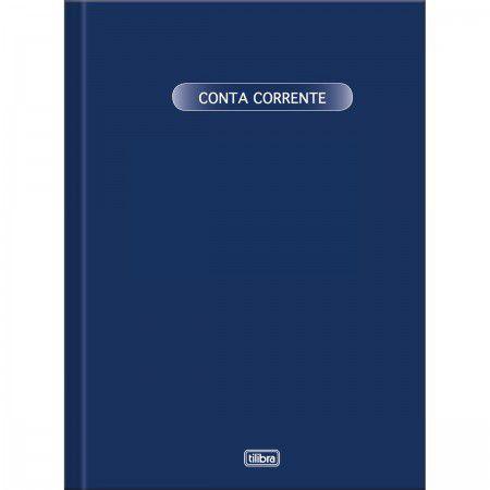 LIVRO CONTA CORRENTE CAPA DURA GRANDE 50 FOLHAS