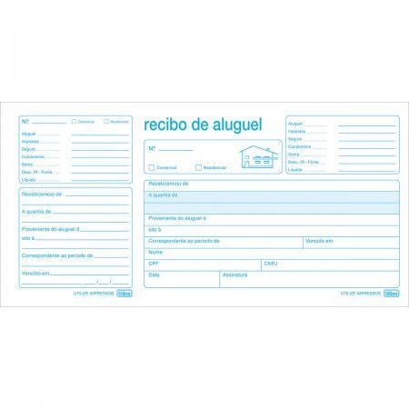 RECIBO DE ALUGUEL COM CANHOTO - 50 FOLHAS