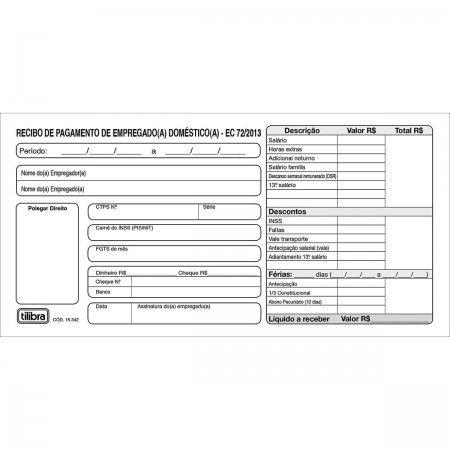 RECIBO DE PAGAMENTO DE EMPREGADO(A) DOMÉSTICO(A) 13X2 VIAS - 26 FOLHAS
