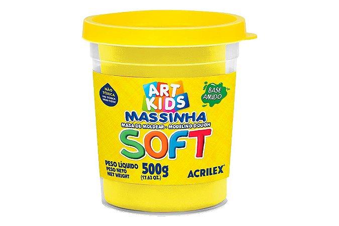 Massa de Modelar Soft 500g Amarelo Limão