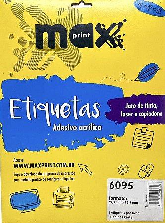 Etiqueta Maxprint Carta 6095 com 10 Folhas