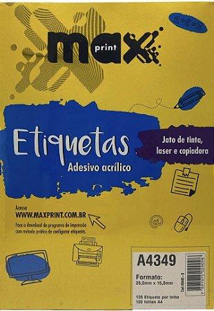 Etiqueta Maxprint A4349 com 100 Folhas