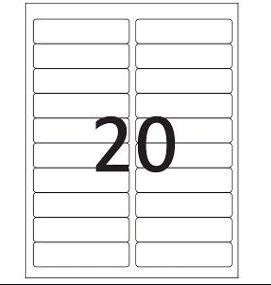 Etiqueta Maxprint Carta 6181 com 100 Folhas