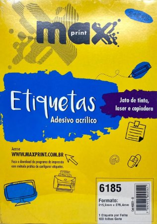 Etiqueta Maxprint Carta 6185 com 100 Folhas