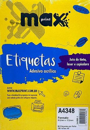 Etiqueta Maxprint A4348 com 100 Folhas