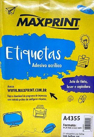 Etiqueta Maxprint A4355 com 100 Folhas