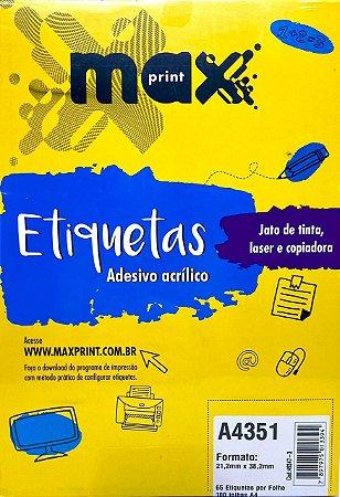 Etiqueta Maxprint A4351 com 100 Folhas