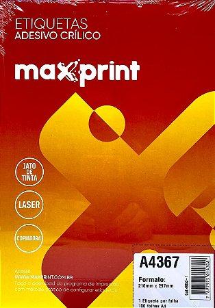 Etiqueta Maxprint A4367 com 100 Folhas