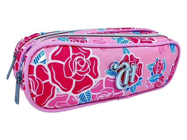 Necessaire Capricho 2 Compartimentos Pink