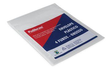 Envelopes Plasticos 4 Furos Ofício Grosso 50 Envelopes - Polibras