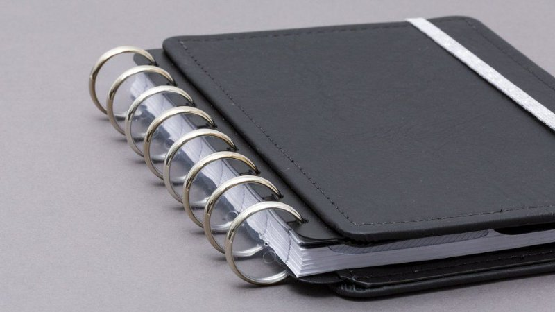 Discos e Elástico Prata Metalico Caderno Inteligente