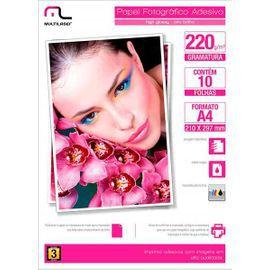 Papel Fotográfico Multilaser Adesivo 220Gm2 10 Fls A4 PE001