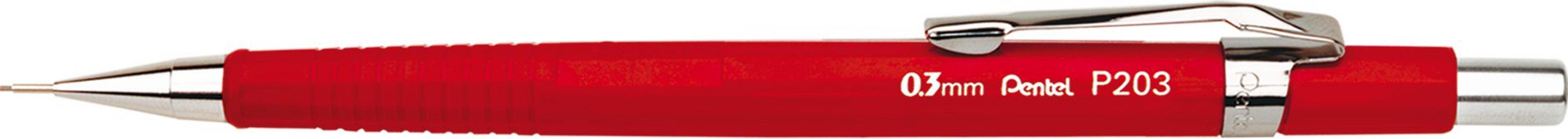 Lapiseira Pentel 0.3 Sharp P203 Vermelha