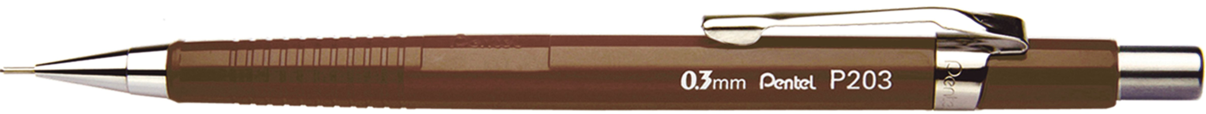 Lapiseira Pentel 0.3 Sharp P203 Marrom
