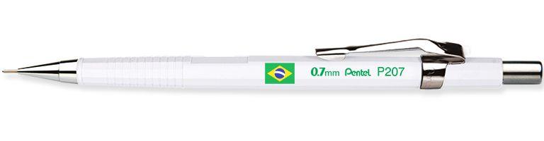 Lapiseira Pentel 0.7 Sharp P207 Branca Brasil