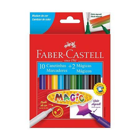 Hidrográfica Magic 10 Cores + 2 - Faber-Castell