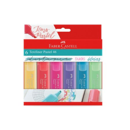 Marca Texto Pastel 46 C/6 - Faber-Castell