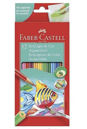 Lápis de Cor 12 Cores Aquarelável + 1 Pincel - Faber-Castell