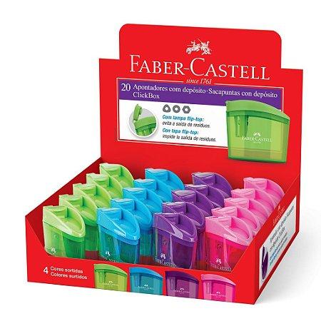 Apontador com Depósito ClickBox Unidade - Faber-Castell