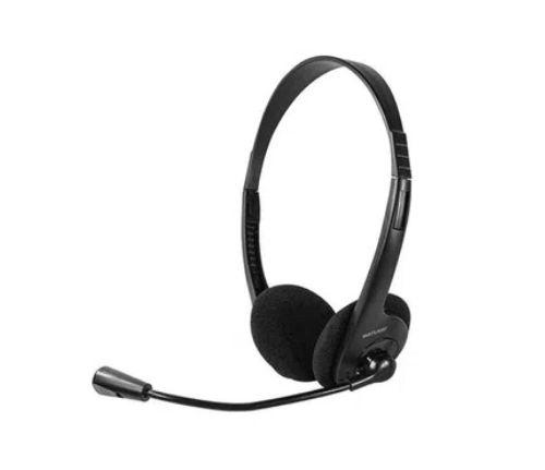 Fone De Ouvido Multilaser Headset Stereo Com Fio 32 Ohms Preto P2 - PH002