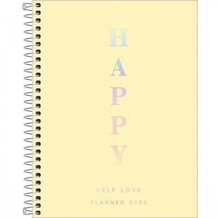 PLANNER ESPIRAL 17,7 X 24 CM HAPPY AMARELO 2022