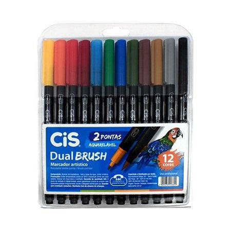 Marcador Artístico DualBrush C/12 CIS