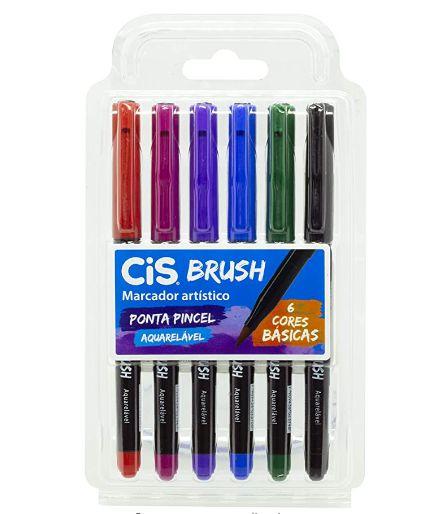 Marcador Artístico Brush Cores Básicas C/6 CIS