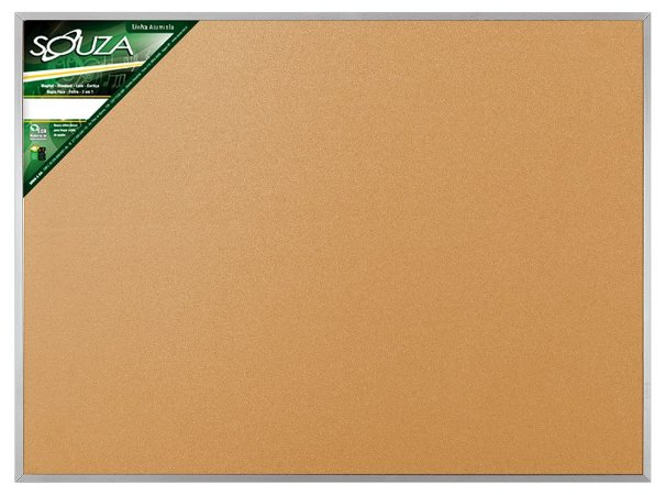 Quadro de Avisos Cortiça Moldura Alumínio 120x90cm - Souza