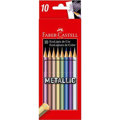 Lápis de Cor 10 Cores Metallic - Faber