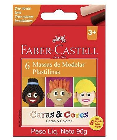 Massa de Modelar Caras & Cores 6 Tons de Pele - Faber