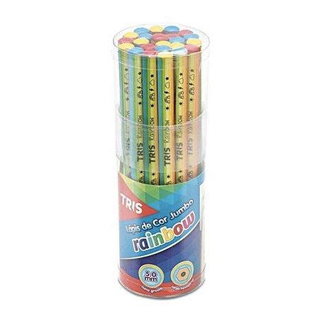 Lápis de Cor Jumbo Tris Rainbow -  Unidade