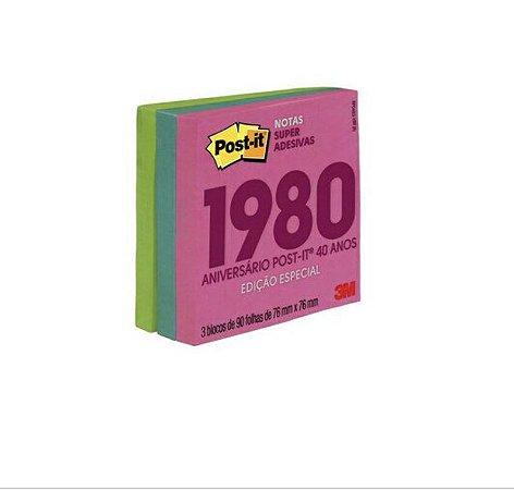 Post-it® Notas Super Adesivas Coleção Anos 80